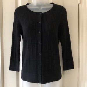 Talbots Baby Cable Shell and Cardi Set in Black